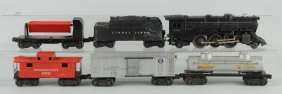 Lot Of 6: Lionel No. 2025 Engine & Freight Cars.