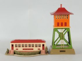 Lot Of 2: Lionel No. 422 Diner & 438 Signal Tower.