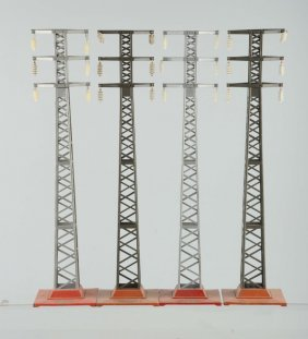 Lot Of 4: Lionel No. 94 High Tension Towers.