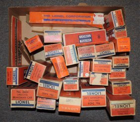 Lot Of Assorted Lionel Post War Train Boxes.