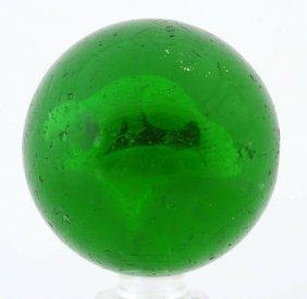 Green Glass Beaver Sulfide Marble.