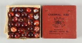 Akro Agate No. 1 Cardinal Red Box Set.