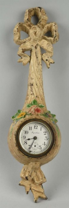 Cast Iron Wall Clock With Mixed Flowers.