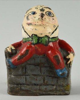 Cast Iron Humpty Dumpty Doorstop.