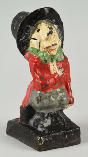 Cast Iron Mad Hatter Doorstop.