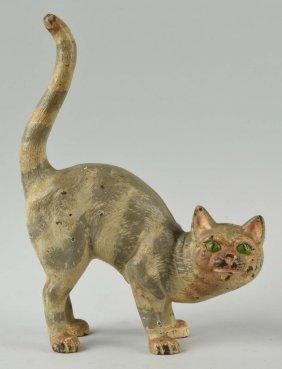 Cast Iron Tabby Cat Doorstop.