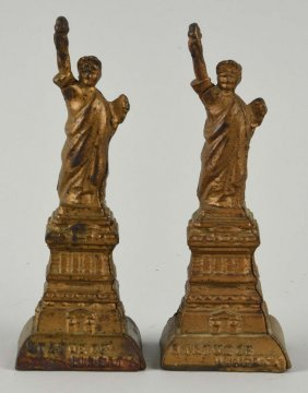 Lot Of 2: Ac Williams Gold Statue Of Liberty Banks
