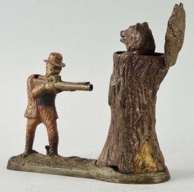 J. & E. Stevens Teddy Bear Mechanical Bank.