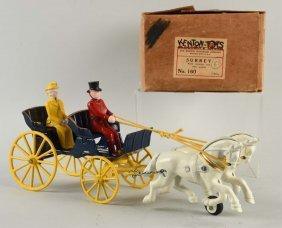 Kenton Cast Iron Horse Drawn Surrey Toy.