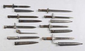 Lot Of 9: Bayonets.