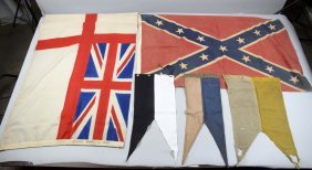 Lot Of 5: Flags & Guidons.