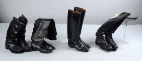 Lot Of 4: Pairs Military Boots.