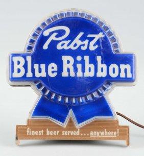 Pabst Blue Ribbon Advertising Light-up Display.