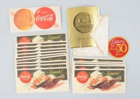 Lot Of Coca-cola Advertising Ink Blotters.