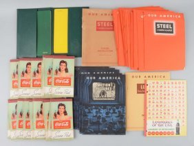 Large Lot Of Coca-cola Advertising Books.