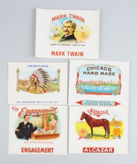 Lot Of 5: Advertising Cigar Labels.