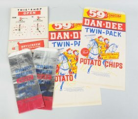 Lot Of 4: Assorted Advertising Items.