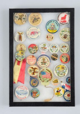 Lot Of 20+: Agriculture Related Pinbacks.