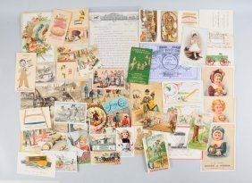 Lot Of 20+: Shoe & Ag. Trade Cards & Brochures.