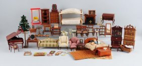 Lot Of Vintage Doll House Furniture & Accessories.