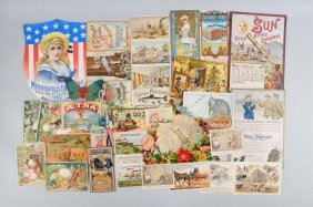 Lot Of 20+: Advertising Trade Cards & Brochures.