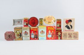 Lot Of 10+ Advertising Tins.