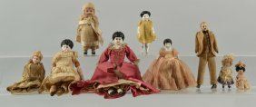 Lot Of 9: Antique Bisque & China Dolls.