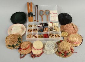 Lot Of 1950's Mary Hoyer Vintage Doll Shoes & Acc.
