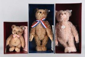 Lot Of 3: Steiff Replica Teddy Bears.