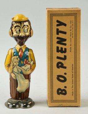 Marx Tin Litho Wind-up B.o. Plenty Toy.
