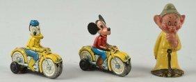 Lot Of 3: Walt Disney Character Items.