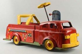 Pressed Steel Marx Ride On Fire Truck.