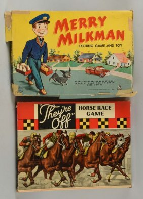 Lot Of 2: American Made Vintage Board Games.