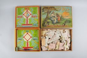 Lot Of 2: Early Boxed Board Games.
