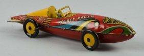 Marx Tin Litho Wind Up Rocket Racecar Toy.