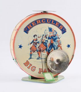 Tin Hercules George Washington Bicentennial Drum.