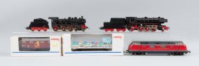 Lot Of 7: Marklin Locomotives & Freight Cars.