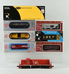 Lot Of 7: K-line & Williams Rolling Stock.