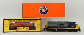 Lot Of 2: Lionel No. 28862 Locomotive & Tank Car.