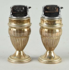 Pair Of Sterling Silver Cigarette Lighters.