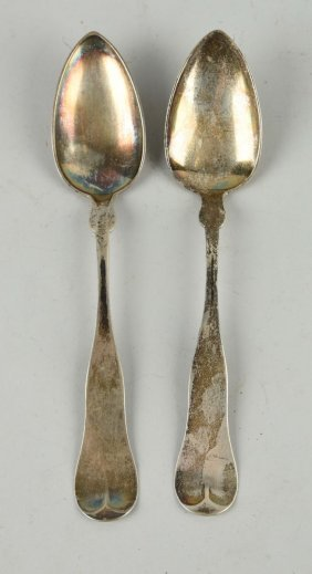 Lot Of 2: Coin Silver Serving Spoons.