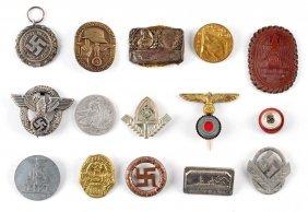 Large Lot of Nazi Era Tinnies and Pins.