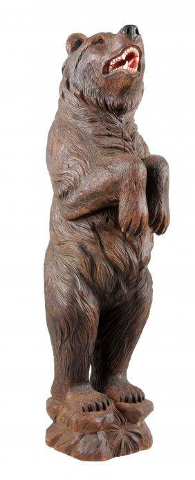 Carved Wooden Black Forest Bear.