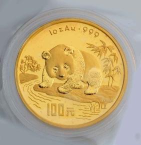 1995 Chinese Panda Bear Gold Coin.