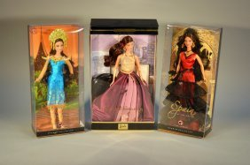 Lot Of 3 Barbies