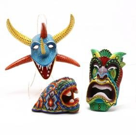 Three Latin American Masks