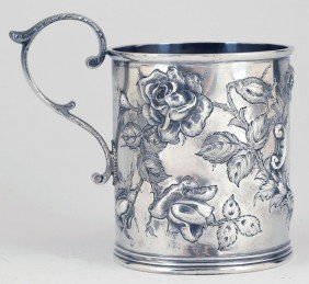 Baltimore Repousse Sterling Silver Cup