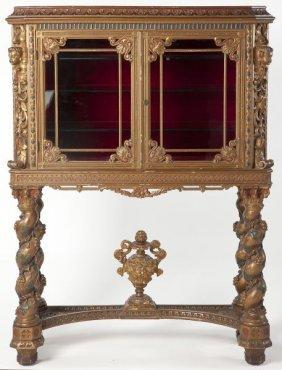 Florentine Carved Vitrine