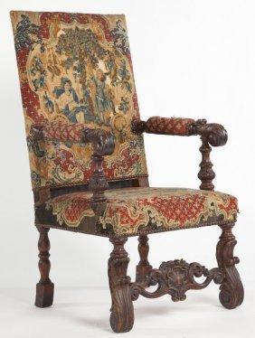 James II Style Open Armchair