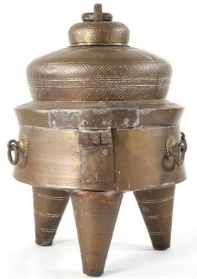 East Indian Brass Kettle/Brazier